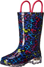 Western Chief Girls' Waterproof Rain Boots That Light up with Each Step