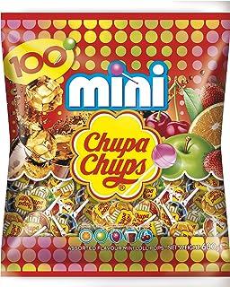 Chupa Chups Mini Classic Lutscher, 100er Beutel Lollis, Geschmacksrichtungen: Cola  Orange  Erdbeere  Apfel  Kirsche