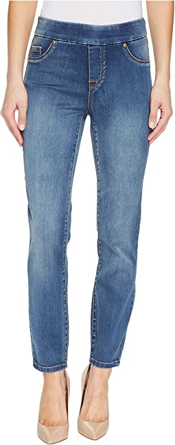"Tribal Pull-On Ankle 28"" Dream Jeans in Retro Blue"
