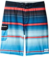 Billabong Kids - All Day X Stripe Boardshorts (Big Kids)