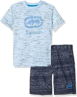 Boys Sleeve Rhino T-Shirt and Logo Short