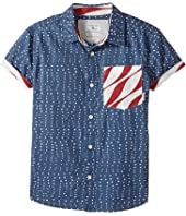 Quiksilver Kids - New Merica Short Sleeve Shirt (Big Kids)