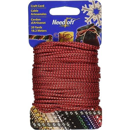 20-Yard Metallic Gold Needloft Novelty Craft Cord