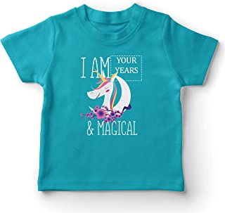 lepni.me Kids T-Shirt I am Custom Years Magical Unicorn Custom Birthday Gift