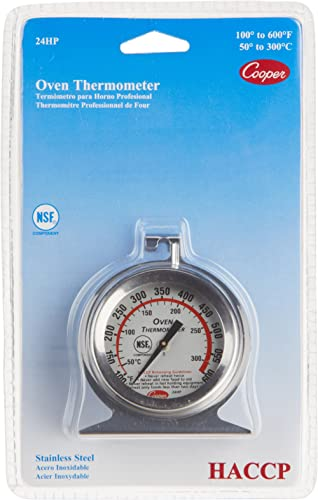 Cooper-Atkins 24HP-01-1 Oven Thermometer NSF HACCP SS 100/600°F/°C