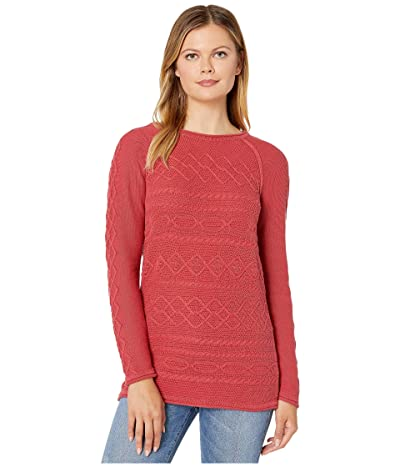 Tribal Long Sleeve Cable Sweater (Paprika) Women