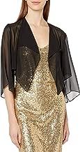Alex Evenings Women's Chiffon Hanky Short Bolero Jacket