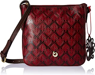 Holii Peacock Throne Women's Sling Bag (Brick Red)