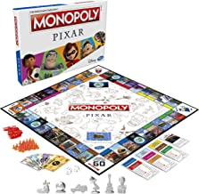 Monopoly: Pixar Edition Board Game for Kids 8 and Up, Buy Locations from Disney and Pixar's Toy Story, The Incredibles, Up...
