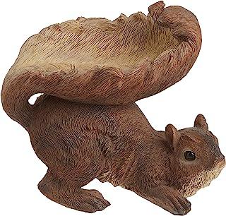 Gifts & Decor Woodland Brown Squirrel Outdoor Birdfeeder