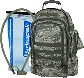 Mercury Tactical Gear Code Alpha TAC PAC Expandable 3-Day Backpack with Hydrapak 3L Hydration System, Air Force Digital Camouflage