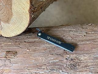 肥後守 肥後守ナイフ 全鋼 黒鞘 中 アウトドア 折り畳みナイフ DIY 木工