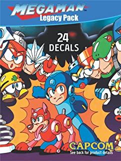 Mega Man Retro Megaman 8 Bit Licensed Sticker Decal Pack Includes 24 Decals for MacBook, iPad, Cell Phone, Vehicles