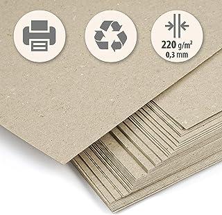 Trashy World Lot de 50feuilles de papier épais fabriquées à partir de papier kraft recyclé FormatA4 220g/m² Idéal pour ...