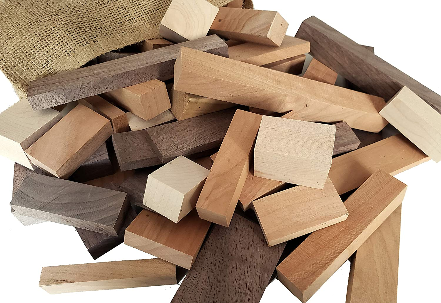 Wooden Blocks 5 Regular store Pounds Free shipping of Premium Assorted Sizes N Hardwood in
