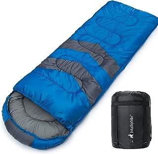 MalloMe Camping Sleeping Bag - 3 Season Warm & Cool Weather - Summer, Spring, Fall, Lightweight, Waterproof for Adults & K...