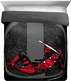 Jay Franco Marvel Deadpool Twist Full/Queen Comforter - Super Soft Reversible Bedding - Fade Resistant Polyester Microfiber Fill (Official Marvel Product)