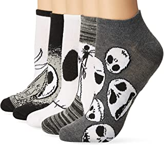 womens Nightmare Before Christmas 5 Pack No Show Casual...