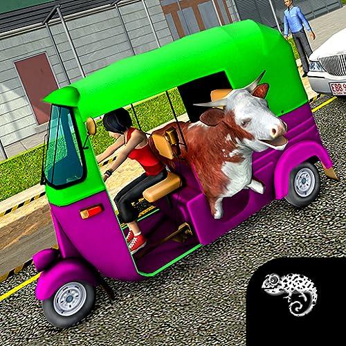 Tuk Tuk Driver : Rickshaw Mania Modern City
