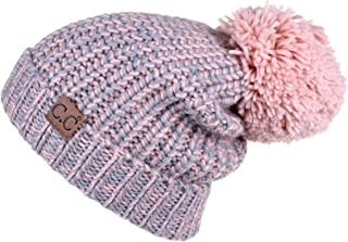 C.C Exclusives Exclusives Thick Slouchy Soft Large Pom Beanie Hat(HAT-123A)