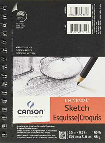 Canson Universal-Sketch Pad 5,5x8,5 6-Pack