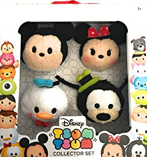 Disney Tsum Tsum Collector Set of 4 with Mickey Mouse Minnie Mouse Donald Duck and Goofy