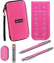 Guerrilla Hard Travel Case for TI-83 Plus, TI-84 Plus, TI-84 Plus Color Edition, TI-89 Titanium, TI-Nspire CX&CX CAS, HP50G Graphing Calculators + Guerrilla's Essential Calculator Accessory Kit, Pink