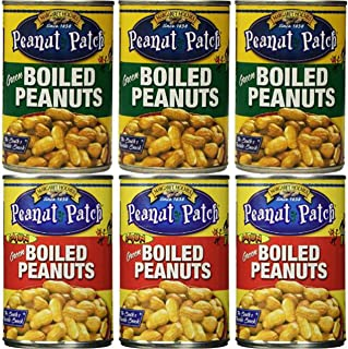 3 Pack Boiled Peanuts and 3 Pack Cajun Boiled Peanuts (Total of 6)