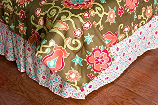 """Rizzy Home BSLF05 Bed Skirt, 39""""X76"""", Pink"""
