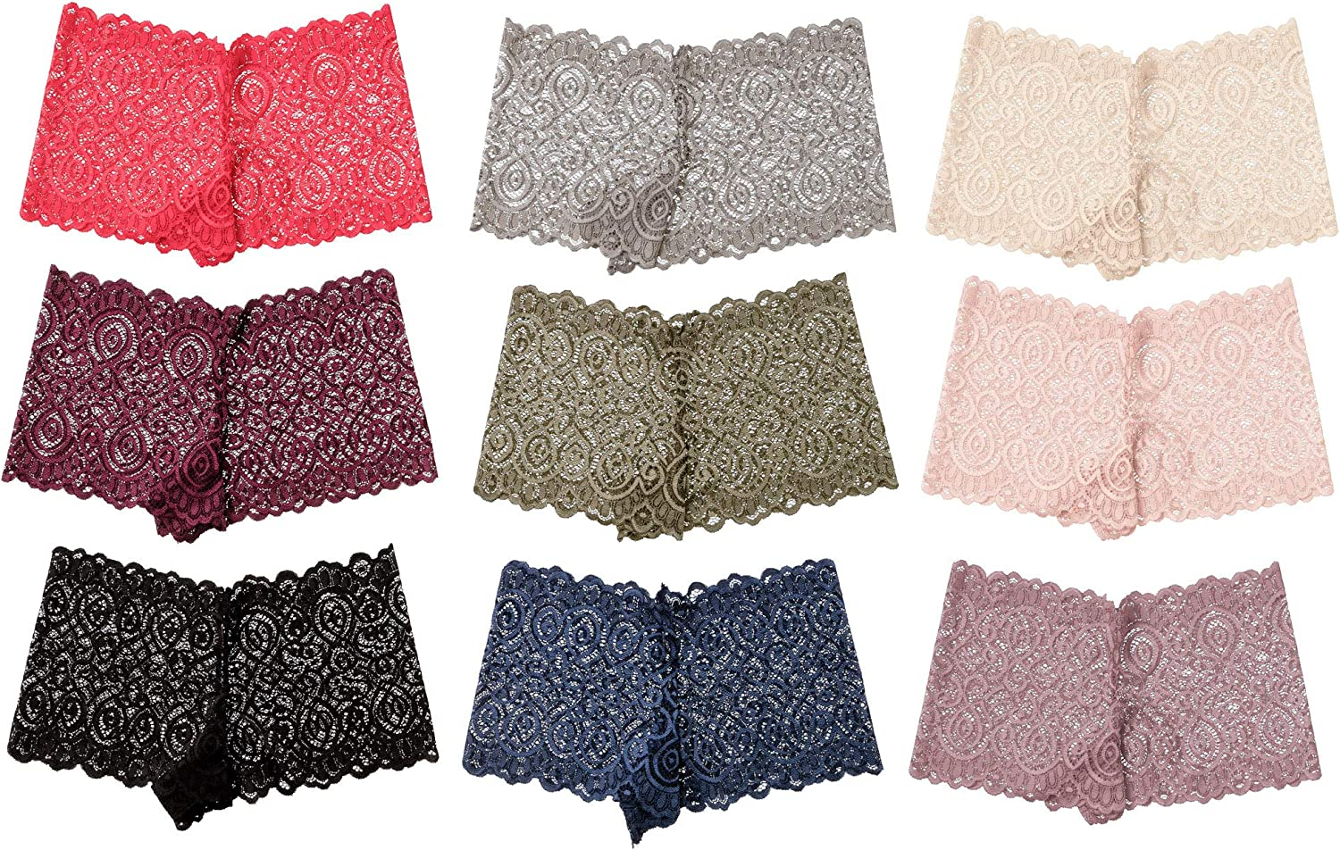 Alyce Intimates Pack of 10 Womens Boyshort Panty t Year-end Fort Worth Mall gift Regular Lace