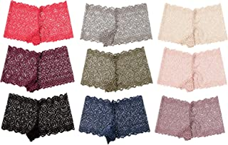 Alyce Intimates Womens Lace Boyshort Panty, Pack of 10