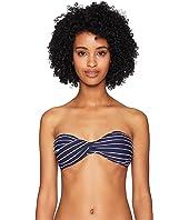 Jonathan Simkhai - Striped Bandeau Twist Bikini Top