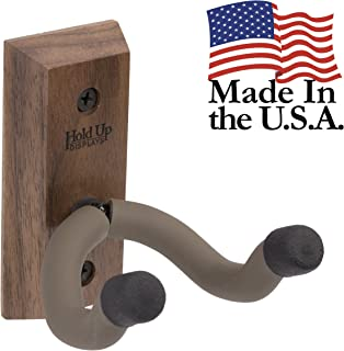 Hold Up Displays - Vertical Gun Hanger and Rifle Storage Securely Holds Firearm and Bow - Real Hardwood Harvested in Wisconsin - Made in USA