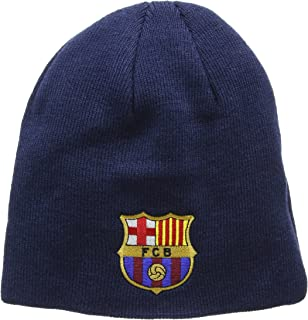 FC Barcelona Knitted Core Beanie Hat - FCB Bronx Beanie - Great Barcelona Fan Knitted Hat - Official Barca Gear - One Size Fits Most - 100% Acrylic - Navy FC Barcelona blue beanie - Barcelona Bronx hat