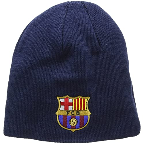 b14ccf71df4 FC Barcelona Knitted Core Beanie Hat - FCB Bronx Beanie - Great Barcelona  Fan Knitted Hat
