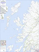 Western Scotland and the Western Isles Road Map - Mapa de pared laminado regional 2