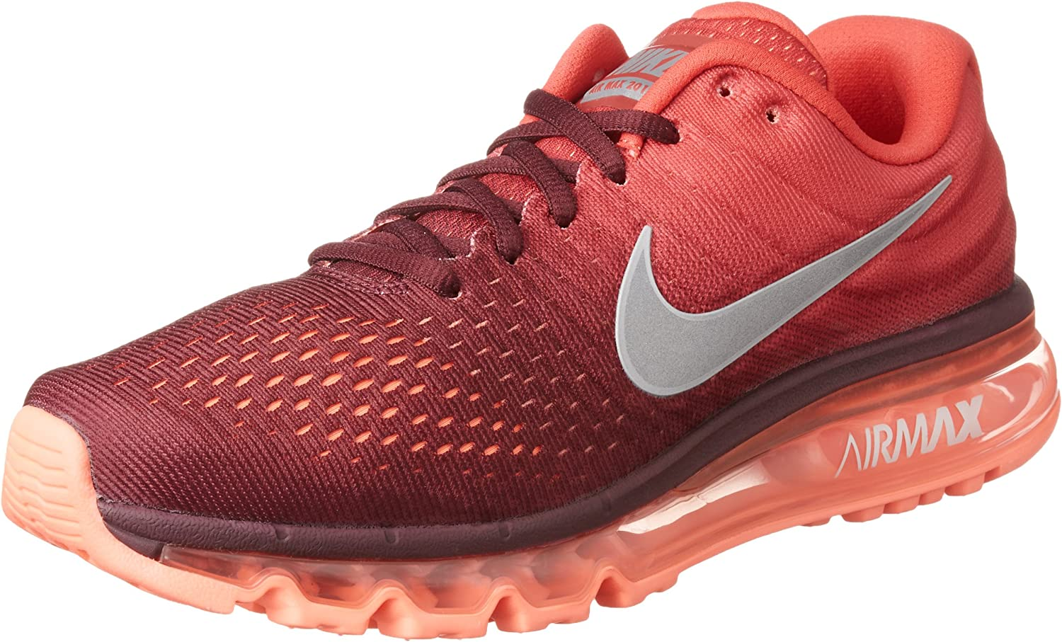 Nike Men's Air Max 2017, Night Maroon White-Gym RED