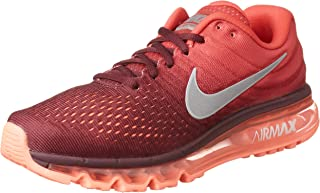 Men's Air Max 2017 Running Sneakers (Maroon/White/Gym Red Nylon) Size 10