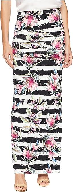 Nicole Miller Tidal Pleat Maxi Skirt
