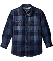 Tommy Hilfiger Kids - Maxwell Printed Denim Shirt (Big Kids)