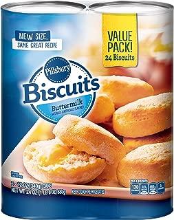 Pillsbury Buttermilk Biscuits, 24 Count, 2 - 12 oz. Cans
