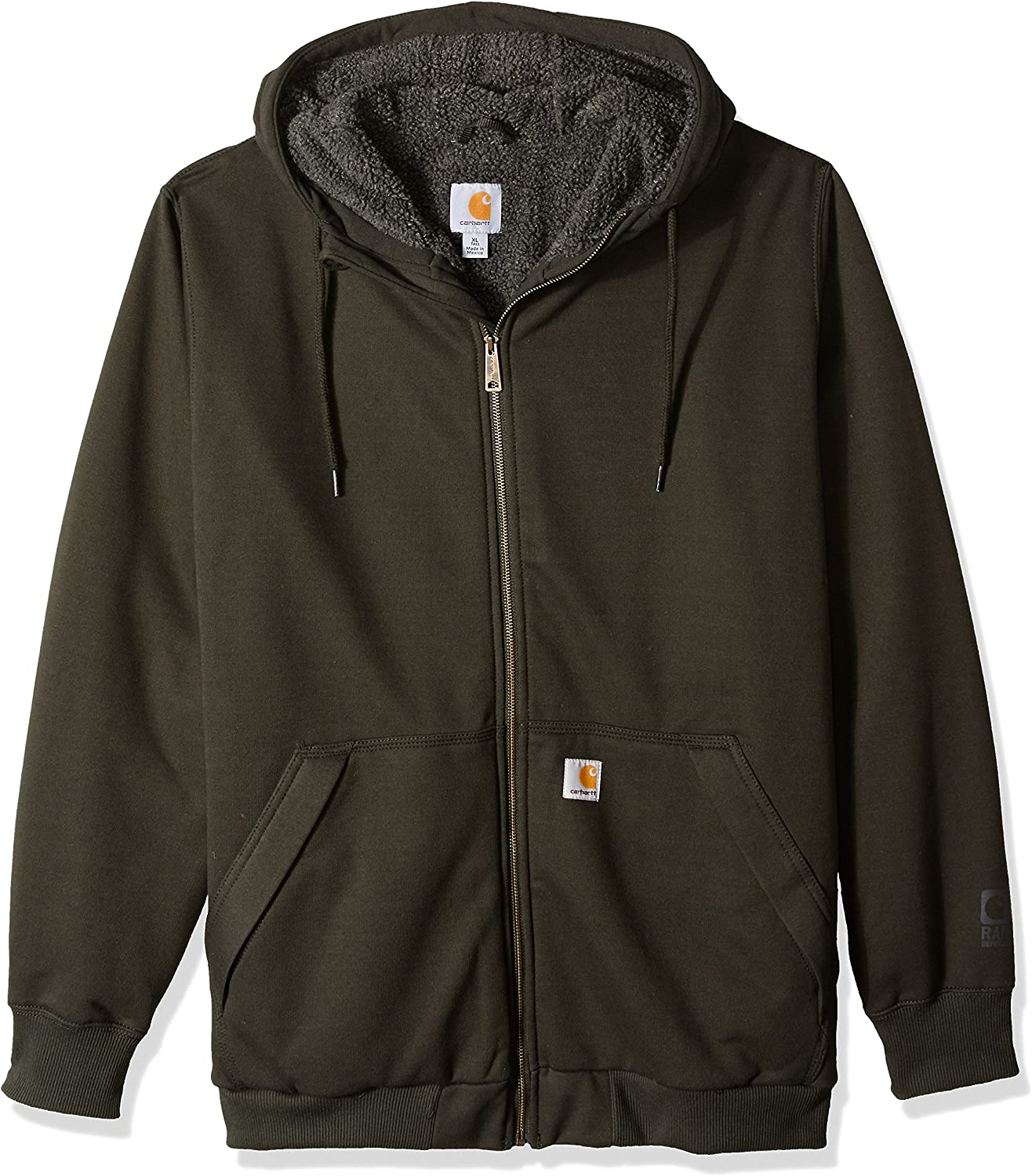 Carhartt Mens Big /& Tall Rd Rockland Sherpa Lined Hooded Sweatshirt