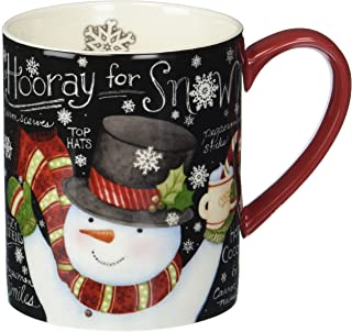 Lang Chalkboard Snowman Mug by Susan Winget, 14 oz, Multicolored