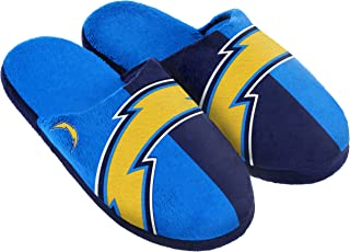Forever Collectibles NFL San Diego Chargers Split Color Slide Slipper, Large, Blue