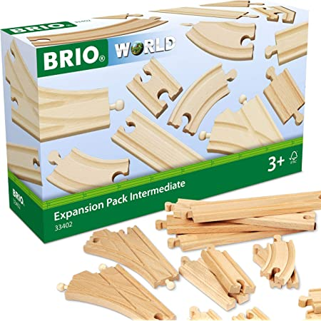BRIO World 33402 Expansion Pack Intermediate | Wooden Train Tracks for Kids Age 3 and Up