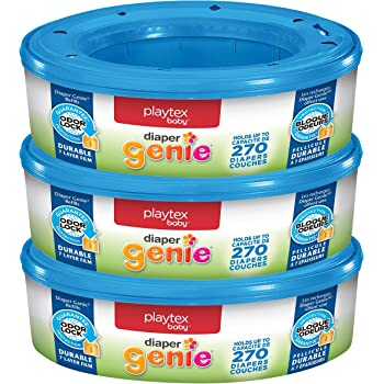 Playtex Diaper Genie Refill Bags, Ideal for Diaper Genie Diaper Pails, 270 Count (Pack of 3)