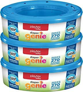 Playtex Diaper Genie Refill Bags, Ideal for Diaper Genie Diaper Pails, Pack of 3, 810 Count