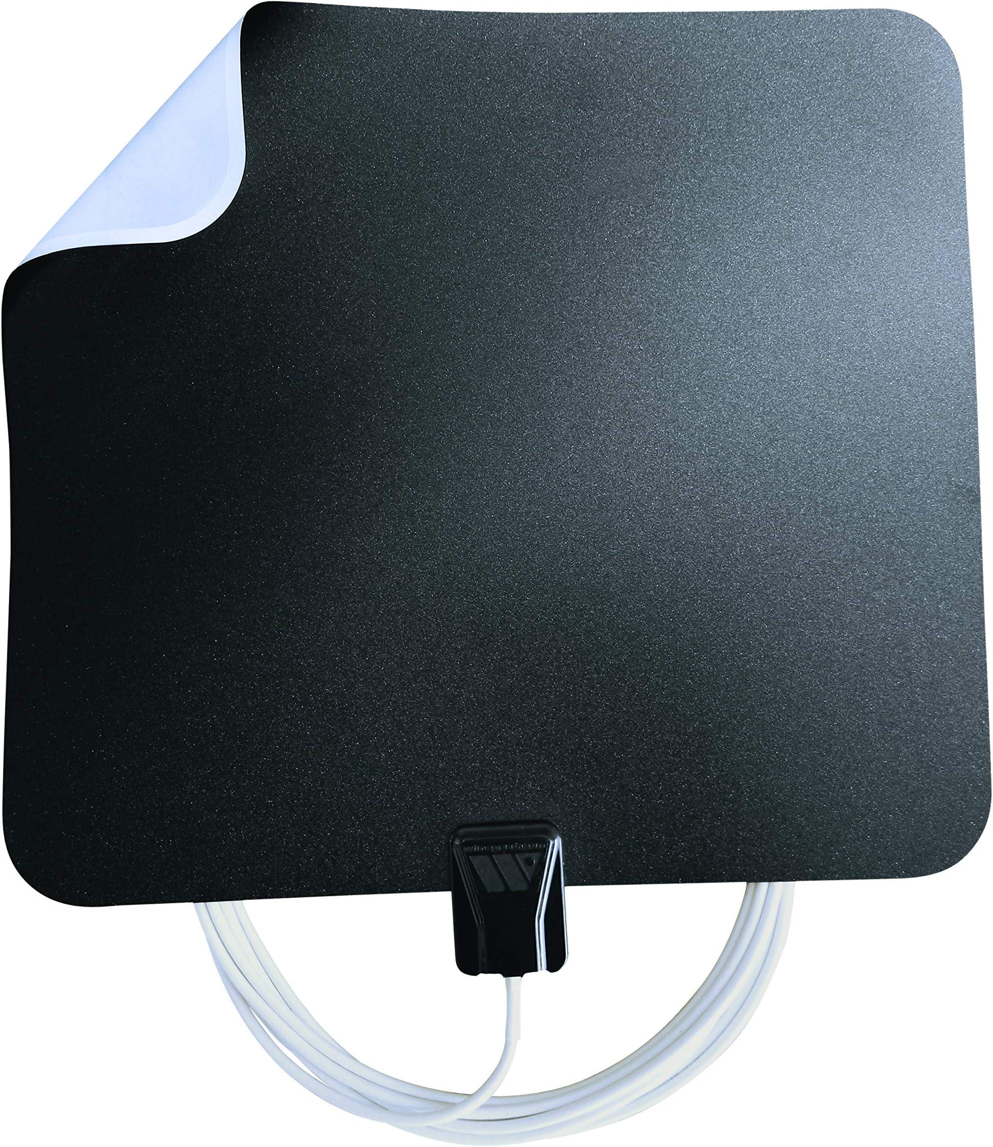Winegard FL5500A FlatWave Amped Digital HD Indoor Amplified TV Antenna (4K Ready / ATSC 3.0 Ready / High-VHF / UHF), 60 Mile Long Range