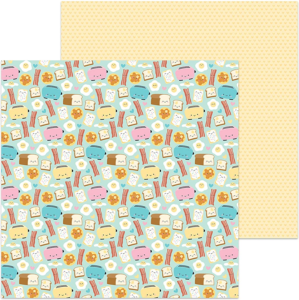 DOODLEBUG Waffley Cute So So Punny Double-Sided Cardstock 12