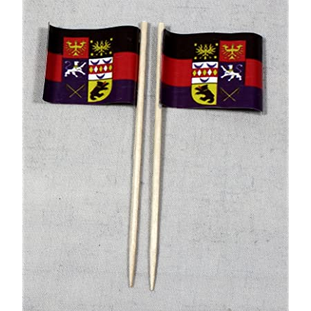 Ddr Ostalgie Flag Flags Book Boxes Pack Of 50 Party Picks 8 Cm Offset Large Selection From Our Own Production Spielzeug